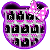 Sparkling Minny Bowknot Keyboard Theme