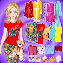 Doll Dress Up pigiama party icon