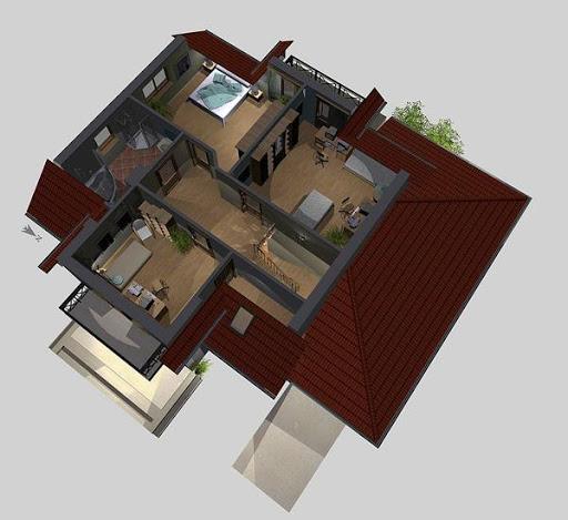 APS 082 - Rzut poddasza 3D