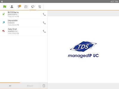 TDS managedIP Hosted Tablet UC screenshot 4