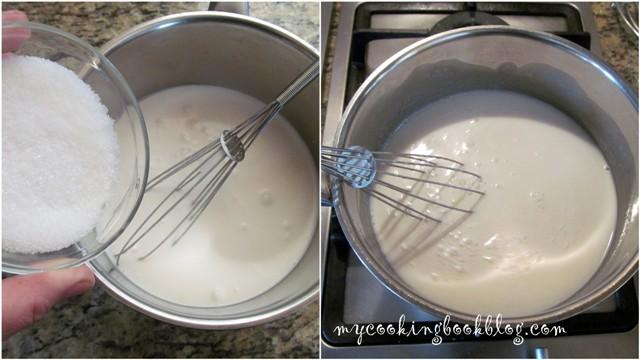 Крем с кокосово мляко и канела