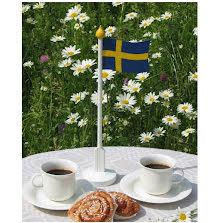 Bordsflagga svensk 320 mm