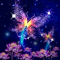 Neon butterfly live wallpaper icon