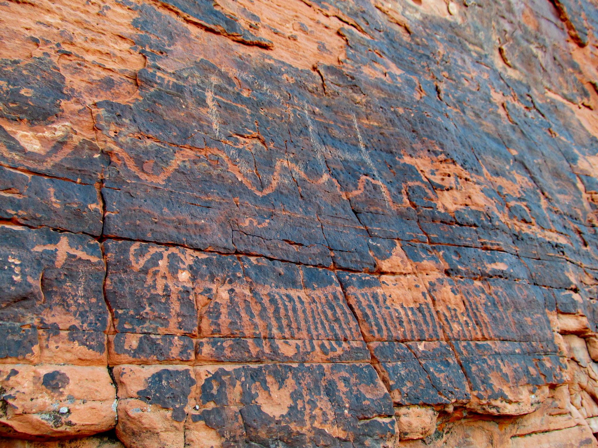 Photo: Petroglyphs near Atlatl Rock