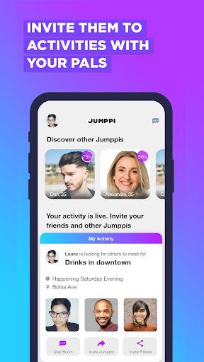 Jumppi:Join fun hangouts.Find dates & Make friends screenshots 2