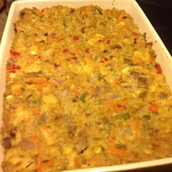 Crouton Confetti Cabbage Stuffing