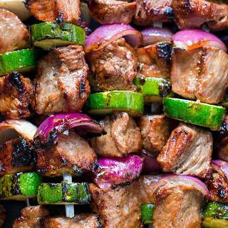 Grilled Steak Kebabs.