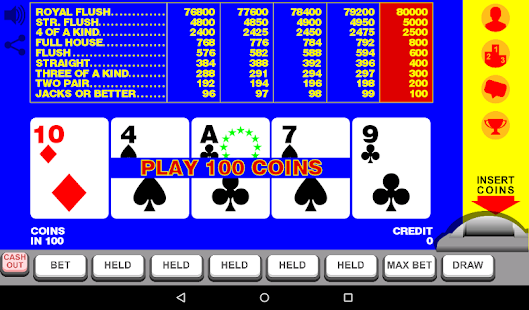 Video Poker with Double Up- screenshot thumbnail