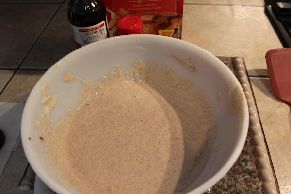 Whisk until lumps are gone but don't over mix and then let your mix...