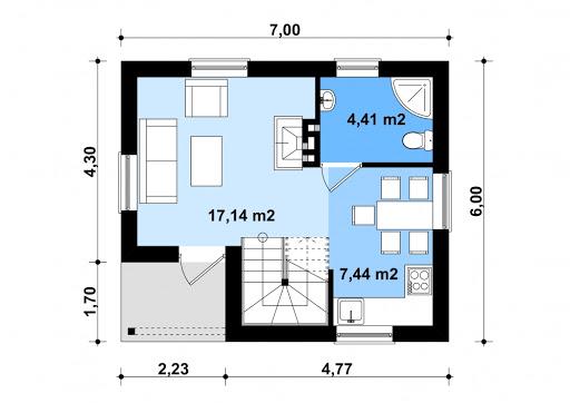 G193 - Budynek letniskowy - Rzut parteru