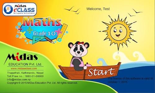 MiDas eCLASS Maths 10  Demo screenshot 0