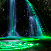 neon live waterfall wallpaper