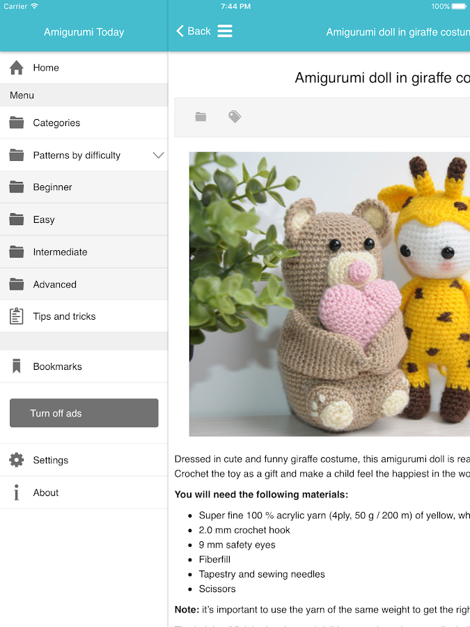 Amigurumi Today: free patterns & crochet tutorials- screenshot
