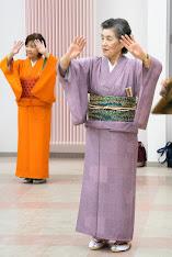 歌謡舞踊「永和会」練習にて