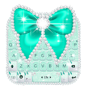 Green Diamond Bow Keyboard Theme Android APK Download Free By New 2019 Themes For Emoji Keyboard