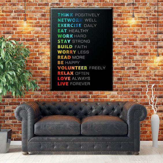 decoratiuni living - tablouri cu mesaje