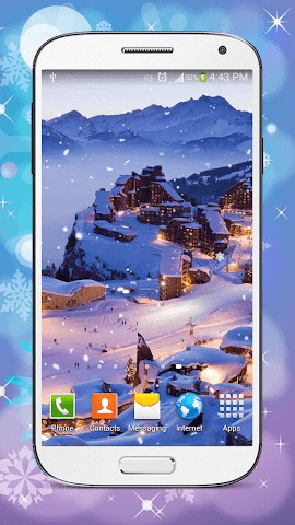 android Hiver Fond D'écran Animé Screenshot 1