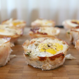 Breakfast Kale Egg Cups with Parmesan and Sun Dried Tomatoes