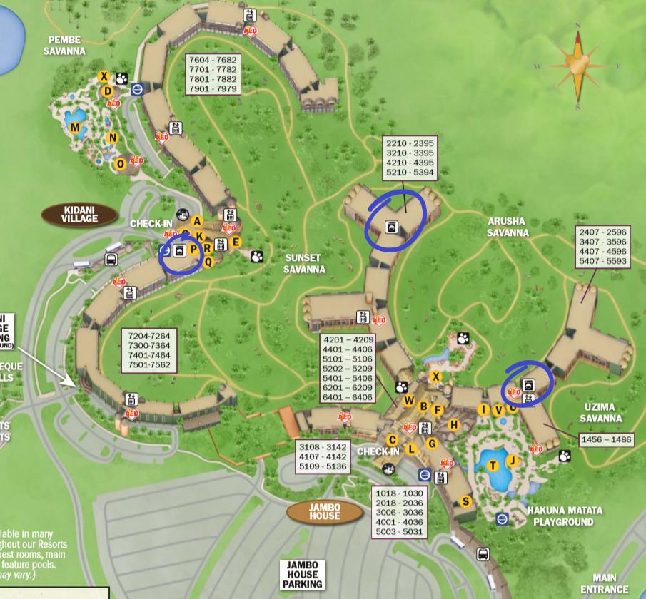 Disney's Animal Kingdom Lodge Laundry Locations