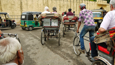Photo: Rikscha fahren in Jaipur, ist echt kein Verknügen