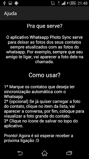 Sync Photo - Whats to Phone