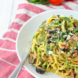 Mediterranean Zucchini Noodles.