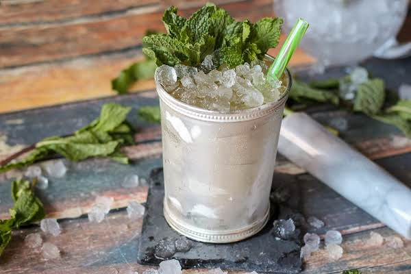 Mint Julep In A Pewter Glass.
