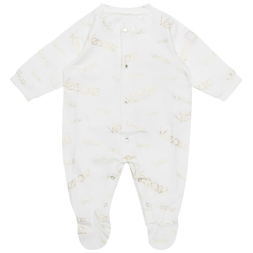 Primary image of Young Versace Gold Logo Babygrow