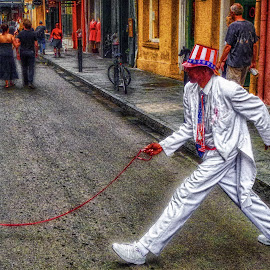 French Quarter Jackson Square by Dave Walters - Digital Art Places ( new orleans, h d r, french quarter, jackson square, street scenes )