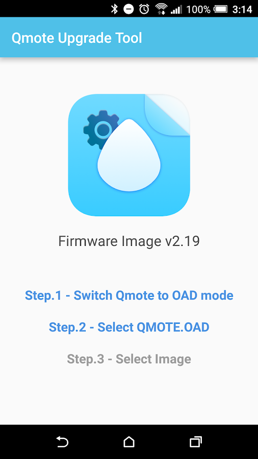 Qmote Upgrade Tool- screenshot
