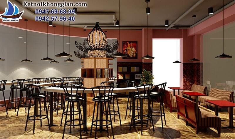 thiết kế quán cafe sách cá tính mang phong cách bar