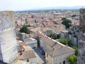 Photo: Here, the view down into Tarascon.