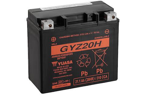 YUASA MC batteri 20Ah GYZ20H lxbxh=175x87x155mm