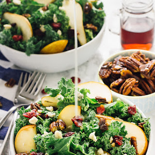 Pear, Gorgonzola and Caramelised Pecans with Honey Apple Dressing