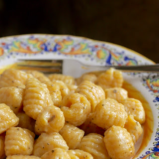 Pumpkin Gnocchi with Butter Sage Sauce.