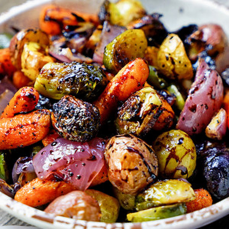 Easy Roasted Vegetables with Honey and Balsamic Syrup Recept | Yummly