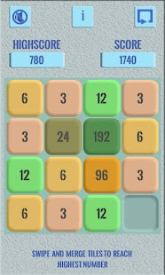 3072 - A Puzzle Game On Numbers - náhled