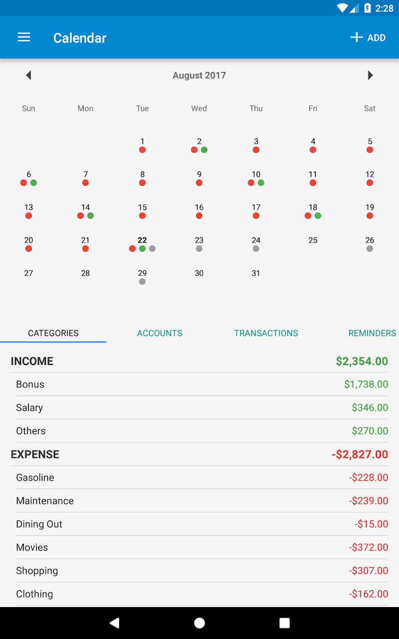 Bluecoins- Finance, Budget, Money, Expense Tracker Screenshot 18