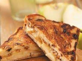 Cinnamon Apple/ham And Cheese Sandwich