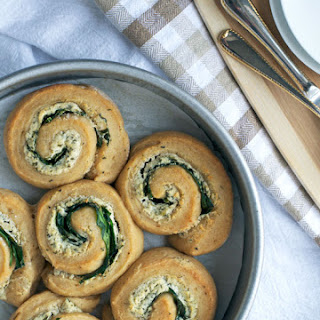 Spinach Goat Cheese Swirl Rolls.
