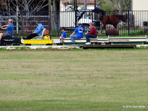 Photo: Train rerailed and back going.    HALS Chili Fest Meet 2014-0301 RPW at 2:18 PM