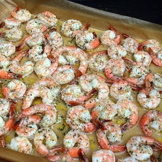 Oven Roasted Garlic Parmesan Shrimp.