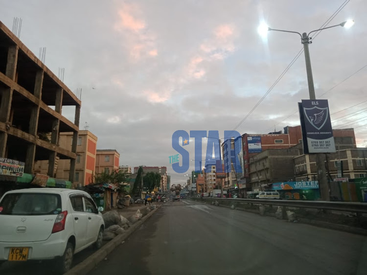 Streets of Eastleigh this morning minimal activities.Photo/Fredrick Omondi