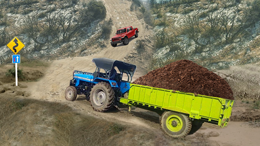 real tractor trolley cargo farming simulation game screenshot 2