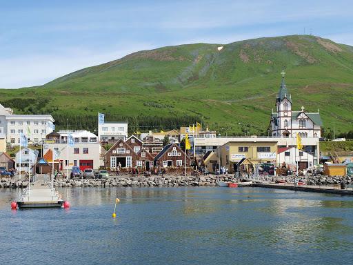 Iceland-coastal-village - A coastal village in Iceland.