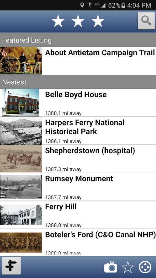 Maryland Civil War Trails- screenshot