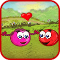 Red Roller Ball 3: Bouncing Ball Love Adventure icon