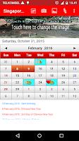 Screenshot of Singapore Calendar 2016
