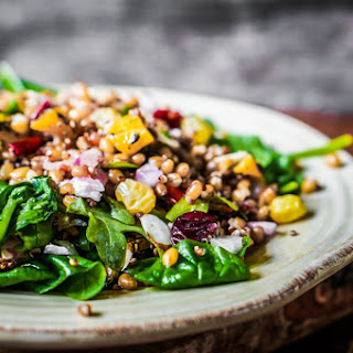 Quinoa Salad with Fresh Figs, Walnuts, and Capers.