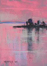 Photo: Kimball Island Twilight, pastel by Nancy Roberts, copyright 2014.